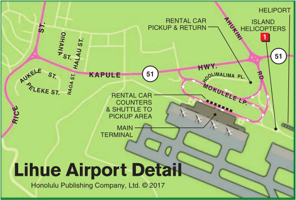 Lihue Airport Detail Map