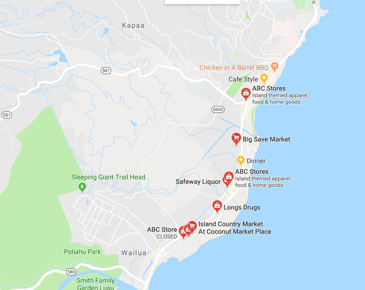 Many Stores in Kapaa